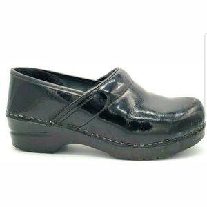 Sanita Patent Leather Professional Clog Slip On